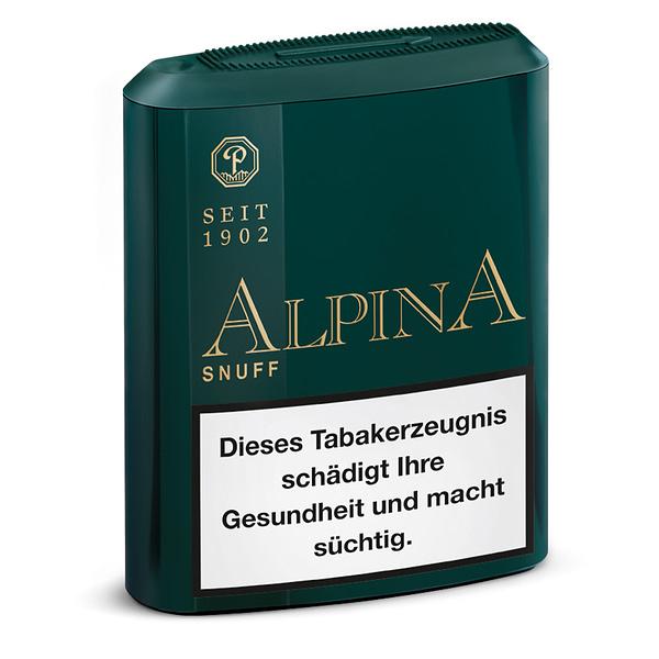 Pöschl Alpina Snuff Schnupftabak in Kunststoffdose mit 10 Gramm Inhalt